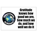 Gratitude Knows Large Poster