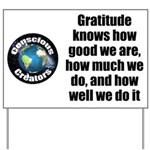 Gratitude Knows Yard Sign