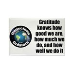Gratitude Knows Rectangle Magnet (100 pack)