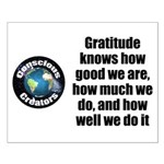 Gratitude Knows Small Poster