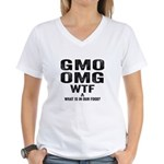 GMO OMG Women's V-Neck T-Shirt