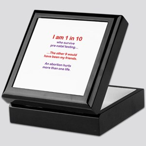 1 in 10 Keepsake Box