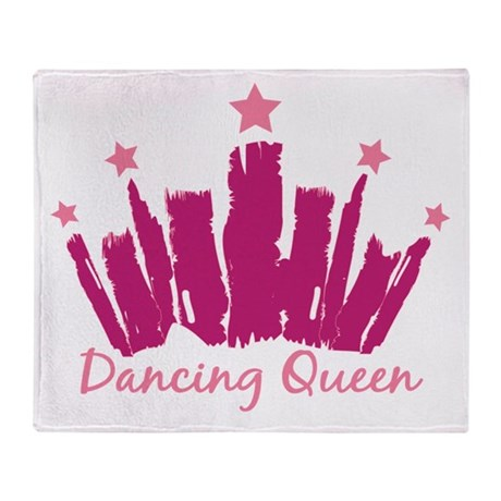 Dancing Queen Crown Throw Blanket