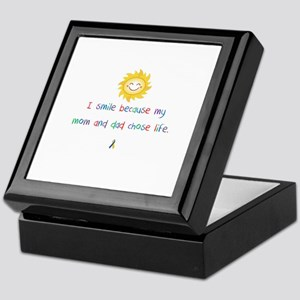 My Mom and Dad Chose Life Keepsake Box