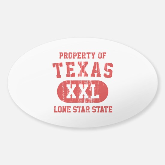 Property of Texas, Lone Star State Sticker (Oval)
