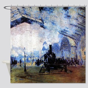 Monet Station Saint Lazare in Paris Shower Curtain