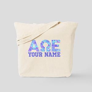 Alpha Omega Epsilon Blue Purple Personali Tote Bag
