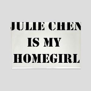 Julie Chen is my homegirl Rectangle Magnet