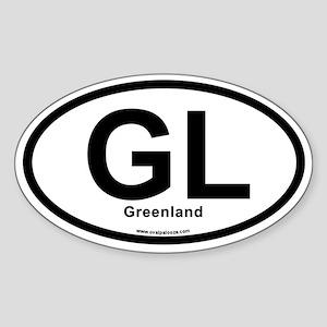 GL - Greenland Sticker (Oval)