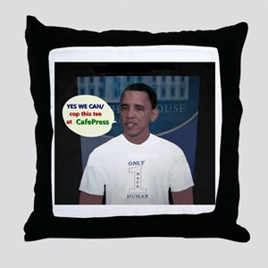 YES WE CAN/cop this tee Throw Pillow