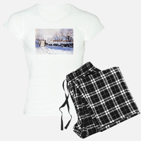 Claude Monet The Magpie Pajamas