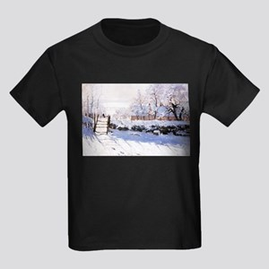 Claude Monet The Magpie Kids Dark T-Shirt