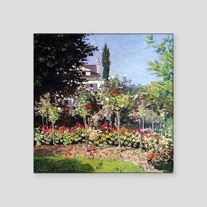 Claude Monet Flowering Garden at Sainte-Adresse Sq