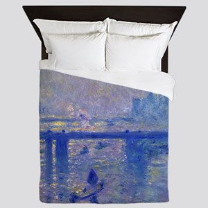 Claude Monet Charing Cross Bridge Queen Duvet