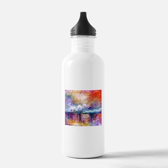 Claude Monet Charing Cross Bridge Water Bottle