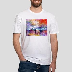 Claude Monet Charing Cross Bridge Fitted T-Shirt