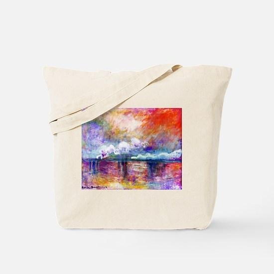 Claude Monet Charing Cross Bridge Tote Bag