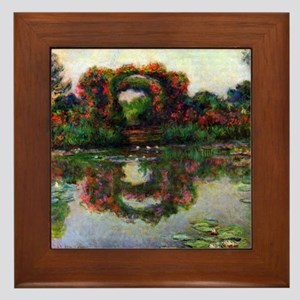 Claude Monet The Rose Elbows Framed Tile
