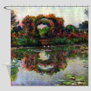 Claude Monet The Rose Elbows Shower Curtain