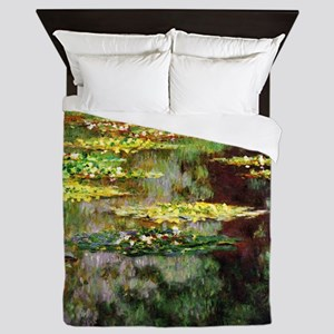 Monet Sea Rose Pond Queen Duvet
