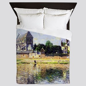 Monet's Garden in Vetheuil Queen Duvet