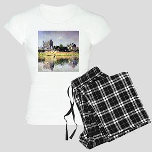 Monet's Garden in Vetheuil Women's Light Pajamas