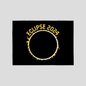 Solar Eclipse 2017 5'x7'Area Rug