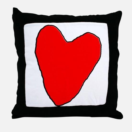 RoughHeart Throw Pillow