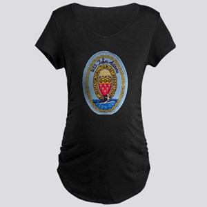 USS JOHN ADAMS Maternity Dark T-Shirt