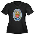 USS JOHN ADA Women's Plus Size V-Neck Dark T-Shirt