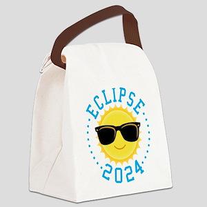 Cute Sun Eclipse 2017 Canvas Lunch Bag