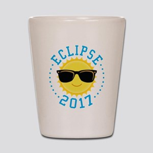 Cute Sun Eclipse 2017 Shot Glass