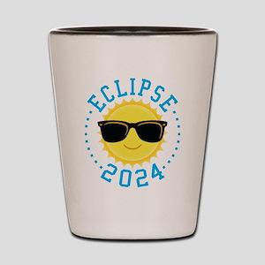 Cute Sun Eclipse 2017 Shot Glass