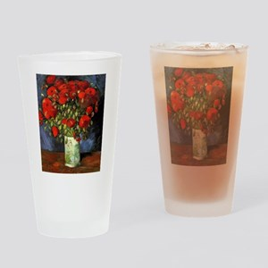 Van Gogh Red Poppies Drinking Glass