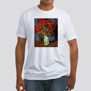 Van Gogh Red Poppies Fitted T-Shirt