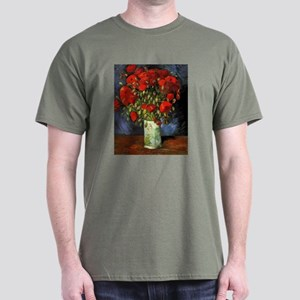 Van Gogh Red Poppies Dark T-Shirt