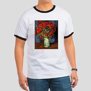 Van Gogh Red Poppies Ringer T