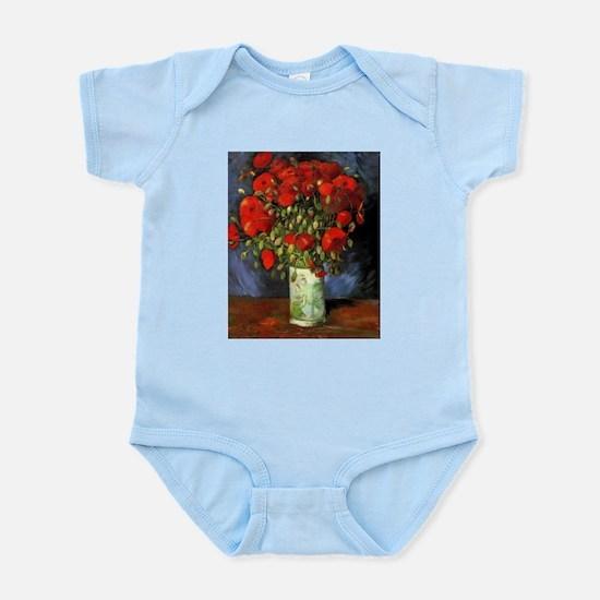 Van Gogh Red Poppies Infant Bodysuit