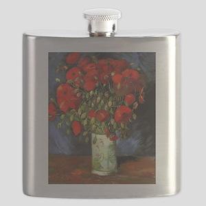 Van Gogh Red Poppies Flask