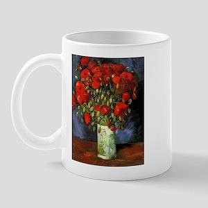 Van Gogh Red Poppies Mug