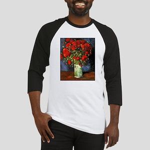 Van Gogh Red Poppies Baseball Jersey