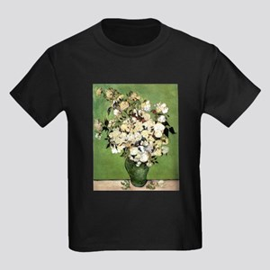 Van Gogh Roses Kids Dark T-Shirt