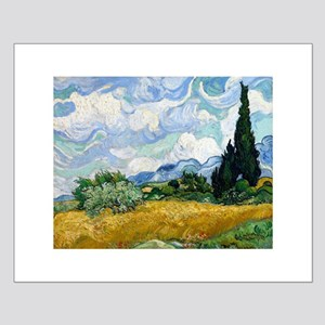 Van Gogh Wheat Field With Cypresses Small Poster