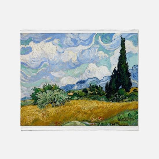 Van Gogh Wheat Field With Cypresses Stadium Blank
