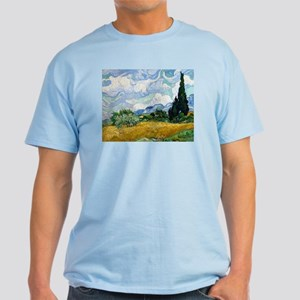Van Gogh Wheat Field With Cypresses Light T-Shirt