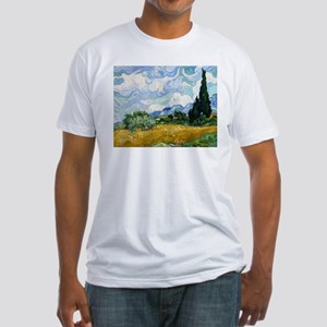 Van Gogh Wheat Field With Cypresses Fitted T-Shirt
