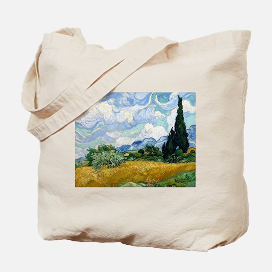 Van Gogh Wheat Field With Cypresses Tote Bag