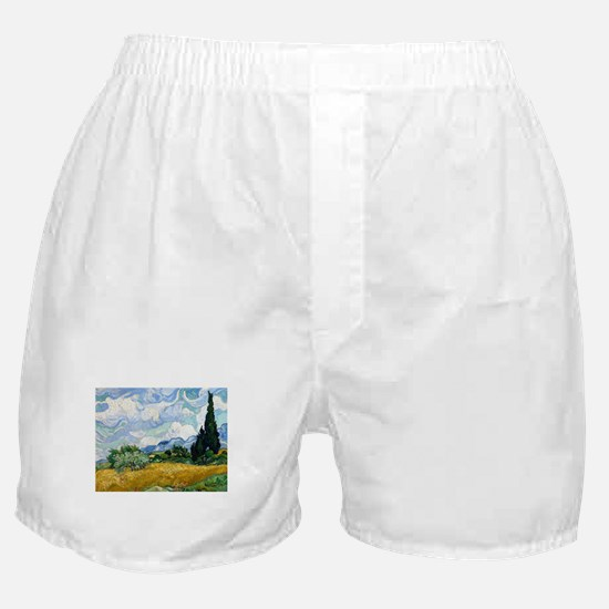 Van Gogh Wheat Field With Cypresses Boxer Shorts