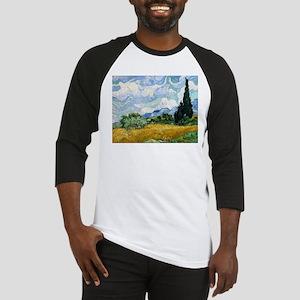 Van Gogh Wheat Field With Cypresses Baseball Jerse