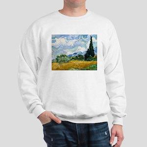 Van Gogh Wheat Field With Cypresses Sweatshirt